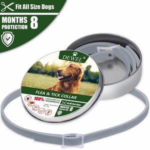 2019 Removes Flea And Tick Collar Dogs Cats Up To 8 Month Flea Tick Collar 63.5CM Anti-mosquito and insect repellent new 427