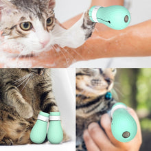 Load image into Gallery viewer, Pet Cat Paw Protector for Bath Soft Silicone Anti-Scratch Cat Shoes Boots Adjustable Shower Checking Cat Paw Cover 4pcs