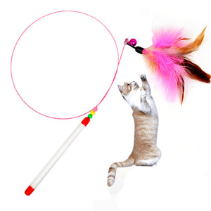 SmallBells Funny Cat Stick Feather Toys For Cats Supplies High Quality Plush catnip toy 2019 Hot Sale hot sale