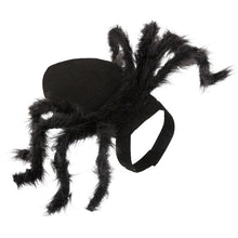Load image into Gallery viewer, Halloween Pet Spider Clothes Puppy Plush Spider Cosplay Costume For Dogs Cats Party Cosplay Funny Outfit Simulation Black Spider