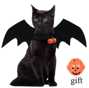 Halloween Cat Dog Cosplay Funny Cats Cosplay Costume Pet Bat Wings Cat Bat Costume Fit Party Dogs Cats Playing Cat Dog Costume
