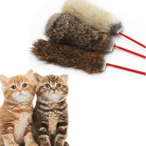2019 New Style Rabbit Hair Fun Cats Pet Kitten Jump Help Fun Cat Toys Tease Stickspet toys dogs Cat accessoires#10