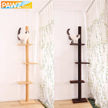 Load image into Gallery viewer, Domestic Delivery Height 238-286cm Pet Cat Tree Condo Scratcher Adjustable Scratching Climbing Tree Cat Toy Protecting Furniture