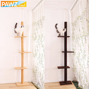Domestic Delivery Height 238-286cm Pet Cat Tree Condo Scratcher Adjustable Scratching Climbing Tree Cat Toy Protecting Furniture