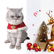 Load image into Gallery viewer, Adjustable Bib For Cats Dogs Pet Christmas Costume Cape With Hat Santa Claus Cloak Red