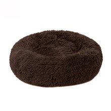 Load image into Gallery viewer, Pet Bed Long Plush Cat Bed Soft Round Mat Cat House Self-Warming Plush Cushion Dog Bed Kennels Machine Washable