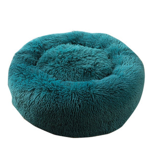 Pet Bed Long Plush Cat Bed Soft Round Mat Cat House Self-Warming Plush Cushion Dog Bed Kennels Machine Washable