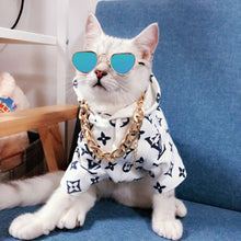 Load image into Gallery viewer, Small Pet Cat Goggles Folding Sunglasses Lovely Glasses Eye Wear UV Protection Dog Cat Trend Glasses Pet Photographing Decor