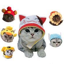Load image into Gallery viewer, Funny Pet Dog Cat Cap Costume Warm Cotton Cosplay Tiger Hat Puppy Kitten Party Holiday Costumes Accessories Photo Props Headwear