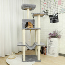 Load image into Gallery viewer, 6 Kinds Cat Toy Scratching New Arrival Domestic Delivery H124CM Post Wood Climbing Tree Cat Jumping Standing Frame Cat Furniture