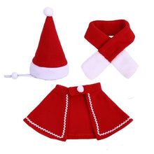 Load image into Gallery viewer, Christmas Pet Cape Hat Scarf Set Cat Cat Christmas Cloak Puppy Bib Festival Costume Set Pet Supplies
