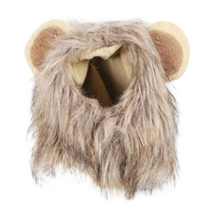 Funny Cute Pet Hat Cosplay Lion Mane Wig Cap for Cat Halloween Christmas Clothes Fancy Dress with Ears for Small Cat Dog Puppy