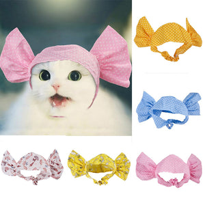 2019 Best selling Cute Pet Dog Cat Puppy Candy Wave Point Decoration Accessories Hat Turban Dropshipping Pet supplies