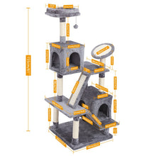 Load image into Gallery viewer, Europe Domestic Delivery Cat Scratching Furniture Cat Jump At Home Wooden Funny Training Cat Tree With Stairs Height 175 cm