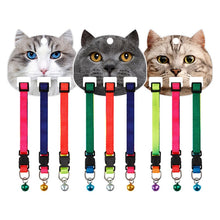 Load image into Gallery viewer, 3PCS Adjustable Nylon Dog Collars Pet Collars with Bells Charm Necklace Collar for Little Dogs Cat Collars Pet Supplies Hot Sale
