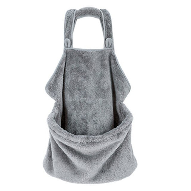 Holding Dog Cat Grey Coral Fleece Large Durable Pocket Soft Comfortable Home Outdoor Gift Anti-stick Hair Pet Carrying Apron
