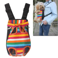 Load image into Gallery viewer, Foldable Dog Cat Nylon Pet Puppy Carrier Backpack Colorful Stripes Pets Kitten Teddy Outdoor Travel Safe Comfort Carrying Cage