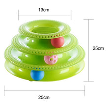 Load image into Gallery viewer, Pet Toys Cat Crazy Ball Disk Interactive Amusement Plate Play Disc Trilaminar Turntable Cat Toy