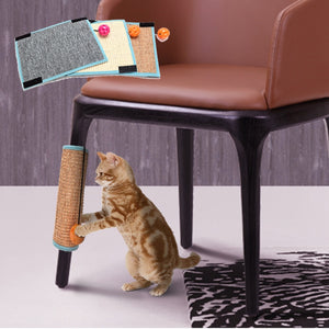 Furniture Protector Cat Play Toys Safe Sisal Cat Scratch Board Kitten Mat Climbing Tree Chair Table Mat  Cat Scratcher With Bell