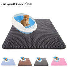 Load image into Gallery viewer, Pets Cats Litter Mat Bed House Floor Portable Double Layer EVA Leather Waterproof Bottom Trapper Home Mat Wearable Cat Products
