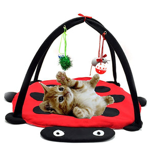 Pet Cat Bed Cat Play Tent Toy Mobile Activity Playing Bed Cat Bed Pad Blanket House Pet Furniture House With Ball Dropshipping