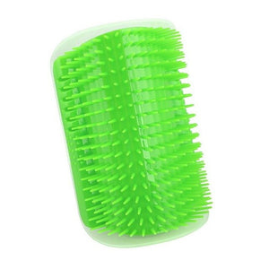 Pet Soft Brush Products For Cats Brush Corner Cat Massage Self Groomer Comb Brush With Catnip Ship From China US