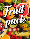 Fruit pack 10 x 1 ml. fruit flavour + base.