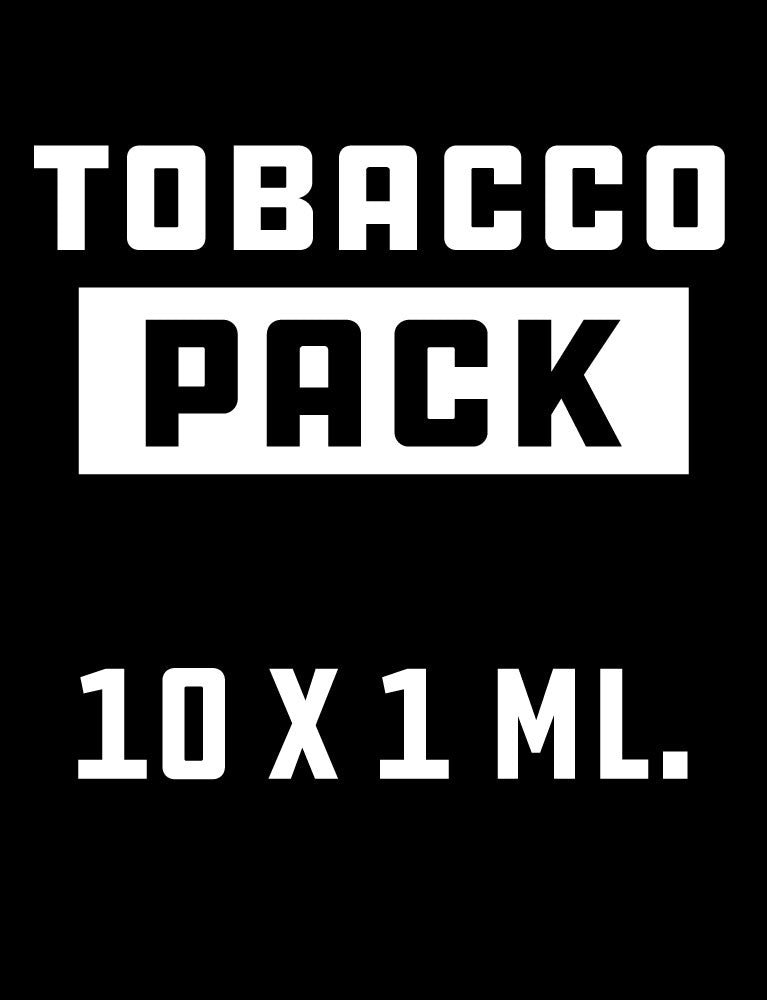 Tobacco Pack 10 x 1 ml. tobacco flavour + base.