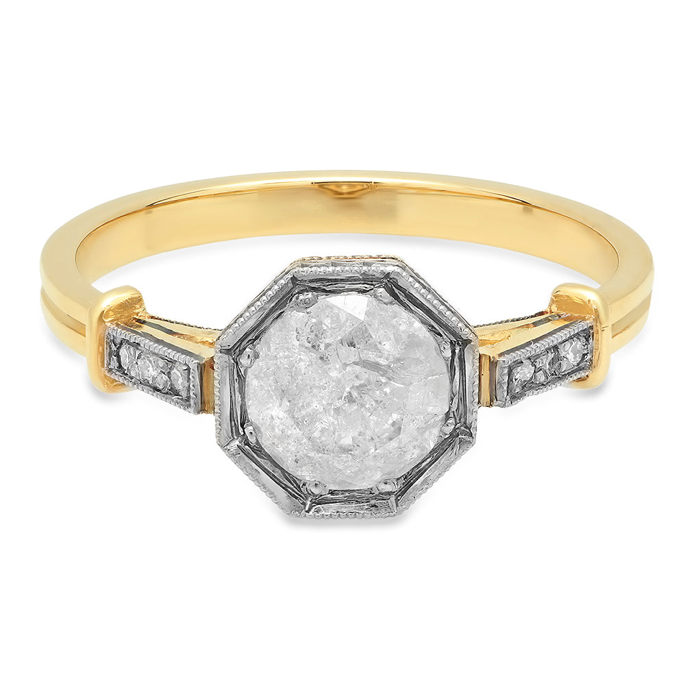Lisbeth Salt & Pepper Diamond Ring
