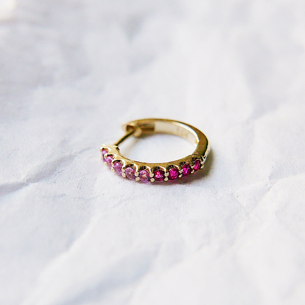Mini Bi-Color Hoop Earring