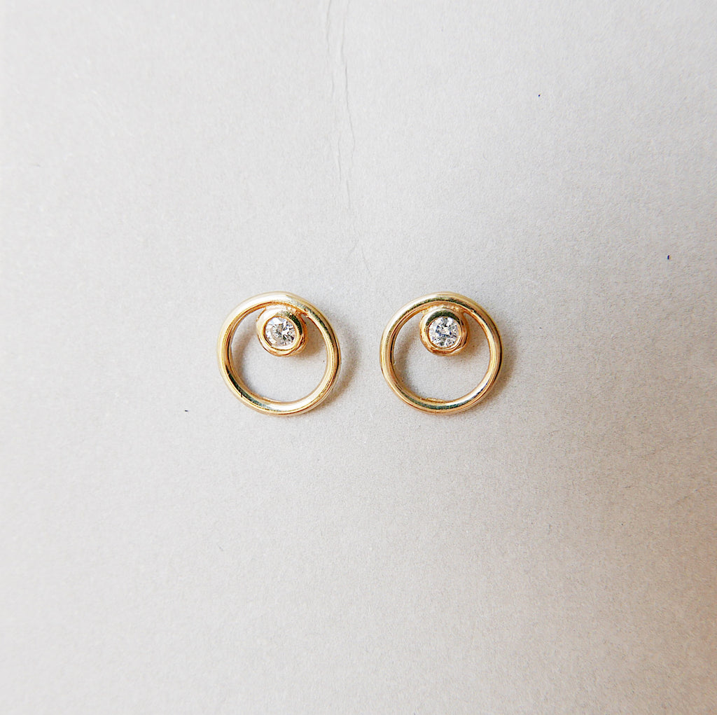 Full Circle Diamond Earrings