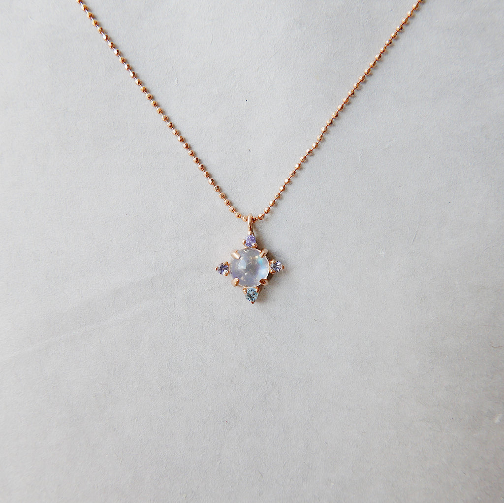 Compass Moonstone Necklace