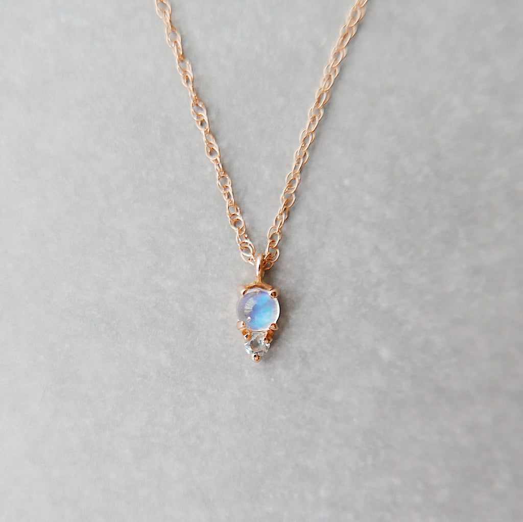 Duo Moonstone Necklace