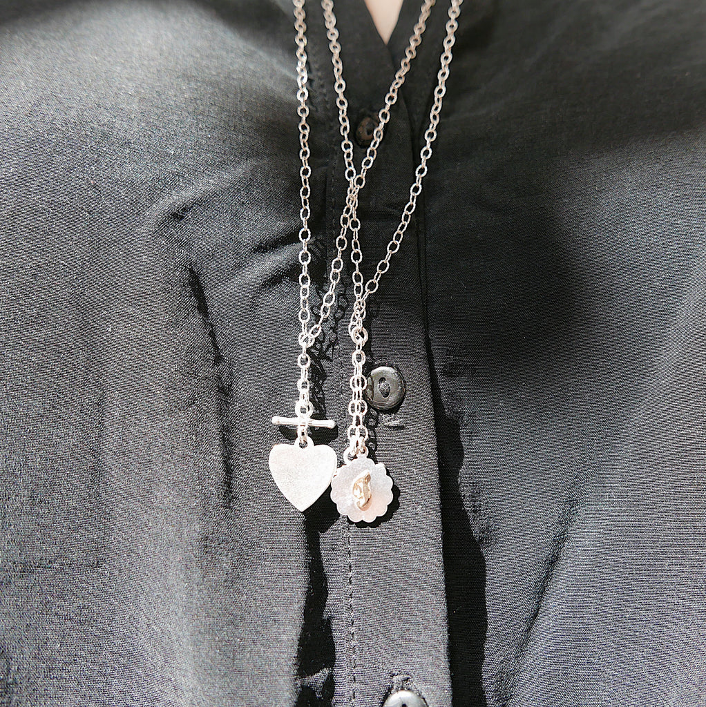 Initial Double Chain Lariat Necklace