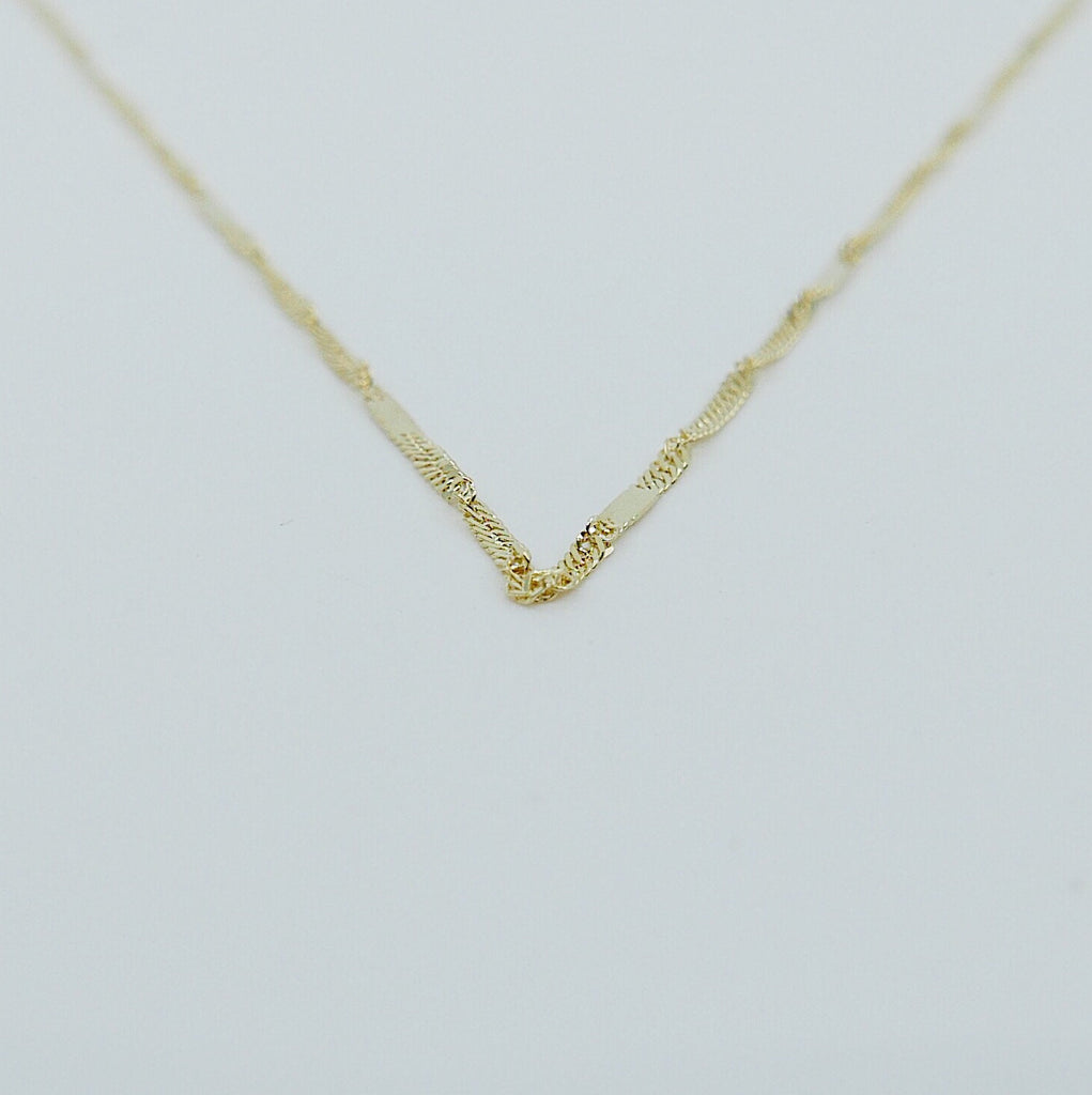 Twist Choker, Thin shiny 14k gold chain choker, 14k gold chain, short gold necklace, gold choker, thin dainty choker, everyday choker