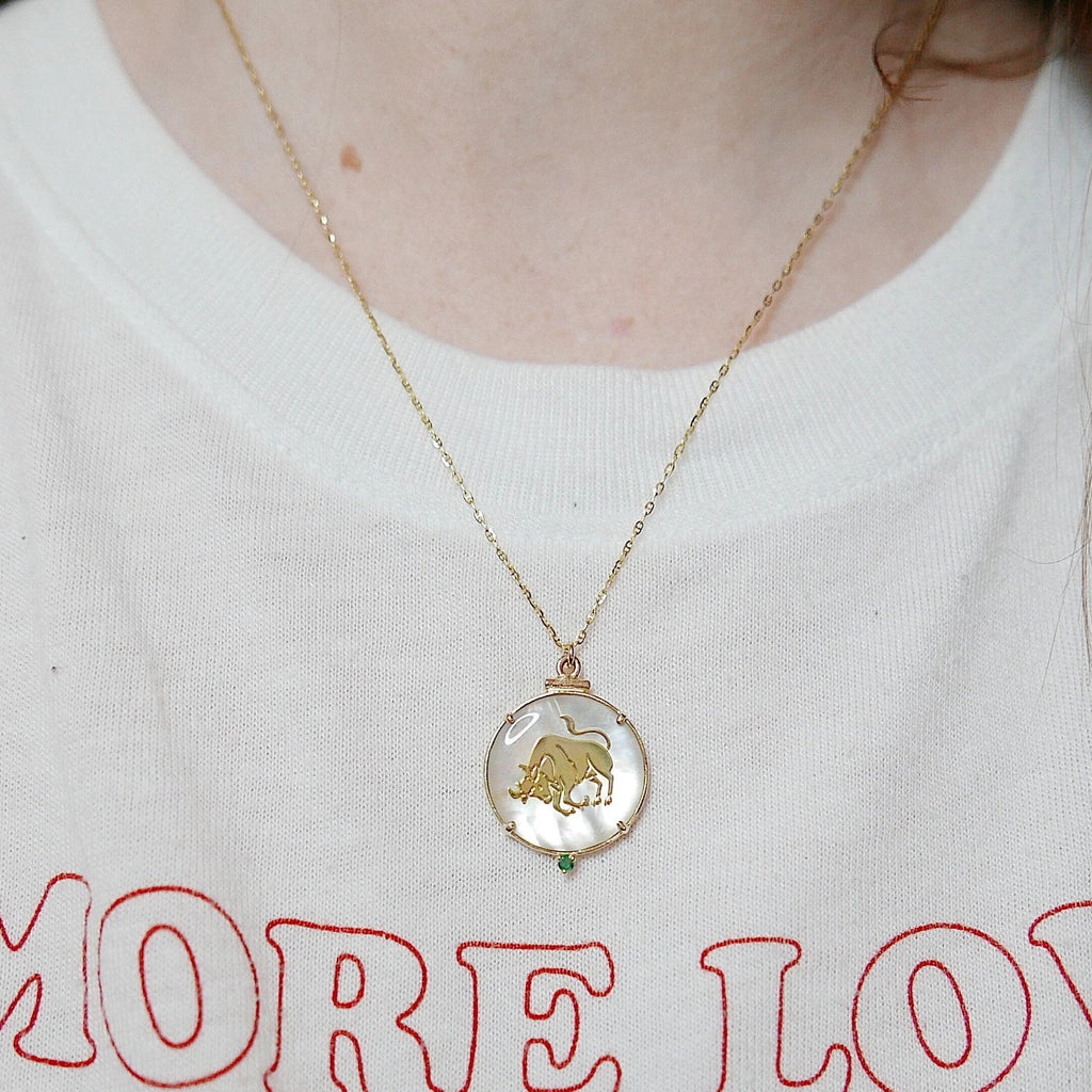 Zodiac Necklace, 14k gold zodiac necklace, birthstone necklace, diamond zodiac necklace, birthstone zodiac necklace, horoscope necklace