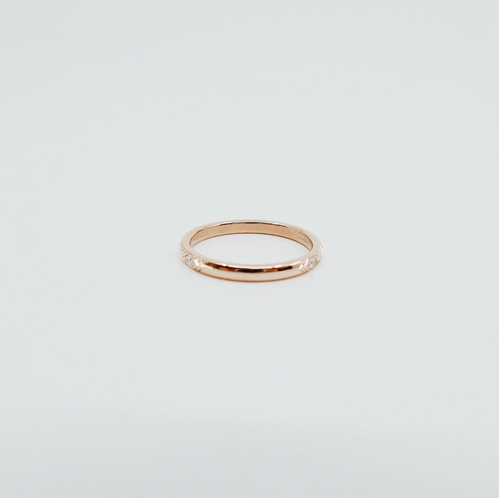 Camille Diamond Ring, Camille Black Diamond Ring, stacking band, wedding band, infinity band, gold band, diamond ring, black diamond ring