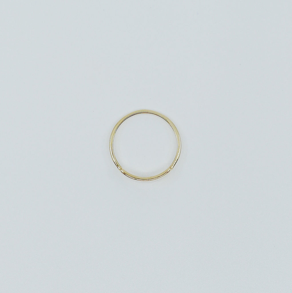 Slim ID Ring Medium, personalized ring, bar ring, customizable ring, 14k gold personalized ring, 14k gold bar ring