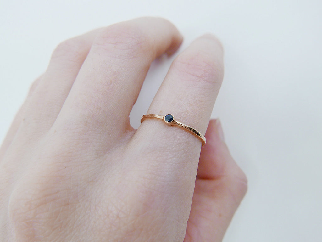 Mini Birthstone Bezel ring, birthstone solitaire ring, 14k birthstone stackable ring, small round birthstone ring, birthstone ring
