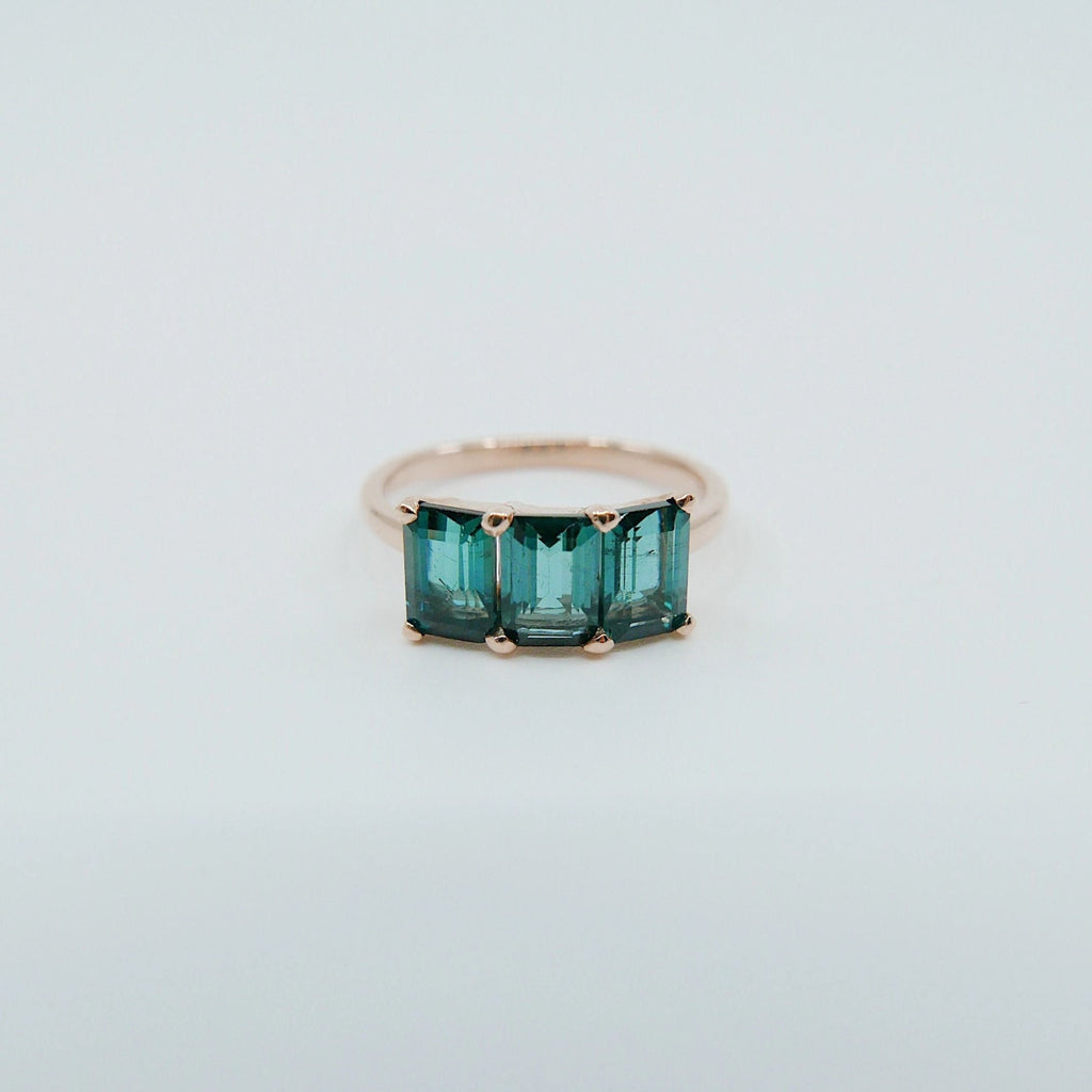 Eve Tourmaline Ring, green tourmaline emerald cut ring, tourmaline ring, statement ring, alternative bridal tourmaline, green ring