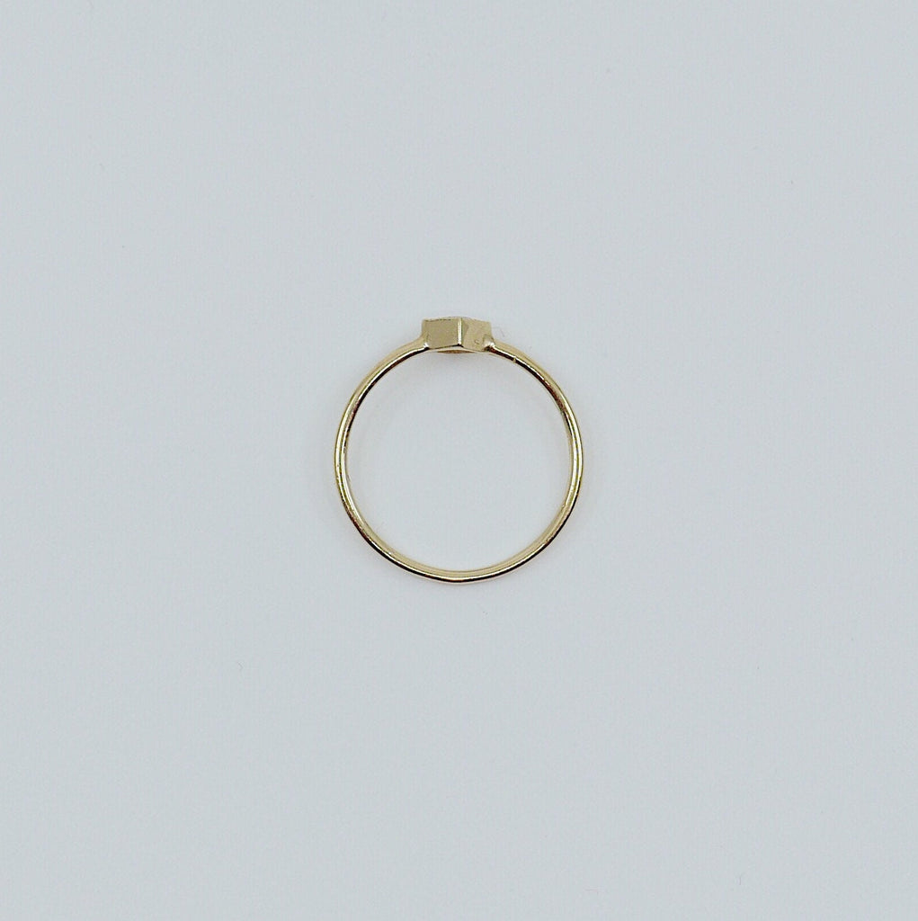 Square Bezel Citrine Ring, citrine bezel ring, citrine stacking ring, citrine ring, square citrine ring, gold square band