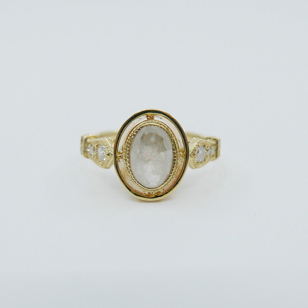 Hazel Rose Cut Grey Diamond Ring
