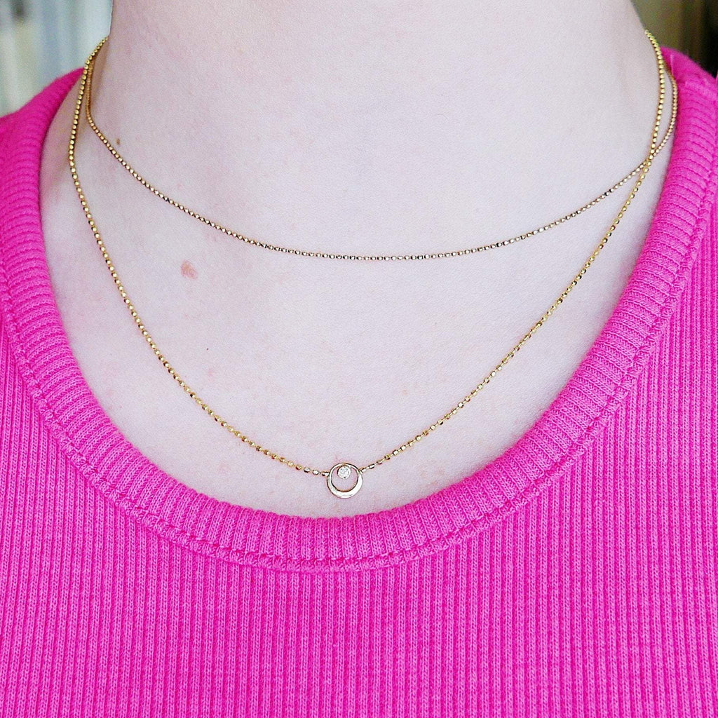 Topsy Turvy Double Chain Necklace