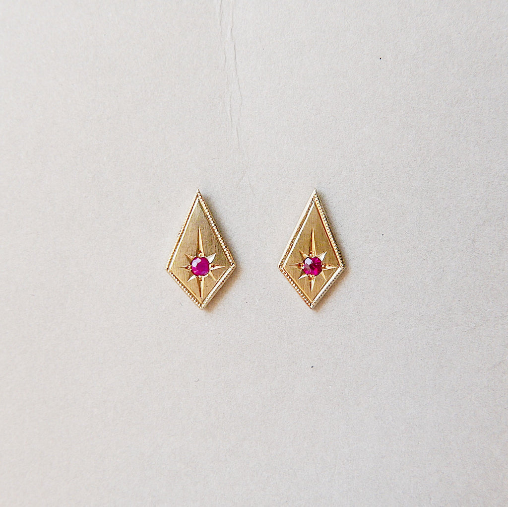 Ruby Kite Earrings