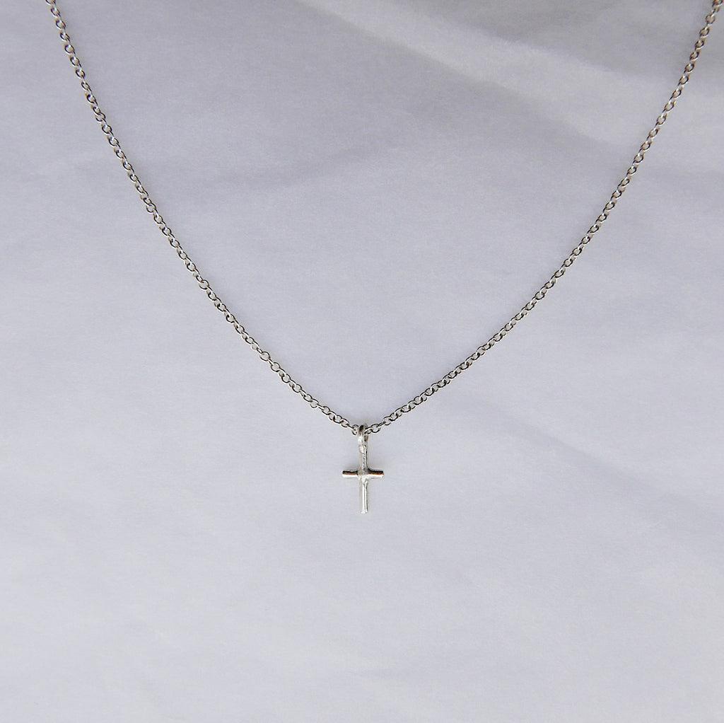 Mini Cross Silver Necklace