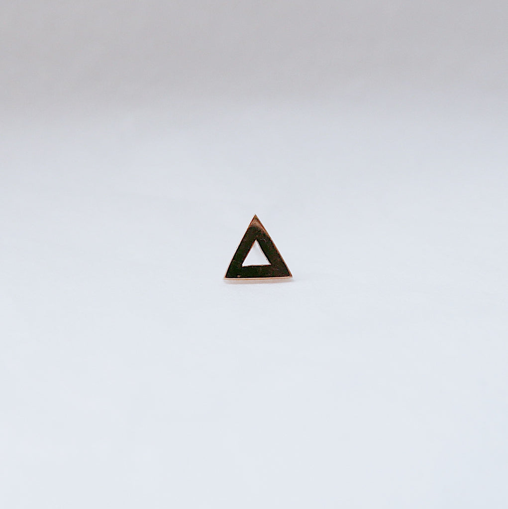 SALE! Open Triangle Stud Earring