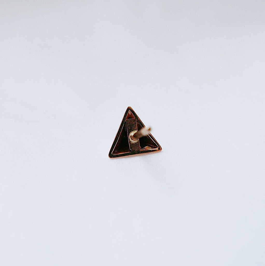 SALE! Pyramid Stud Earring