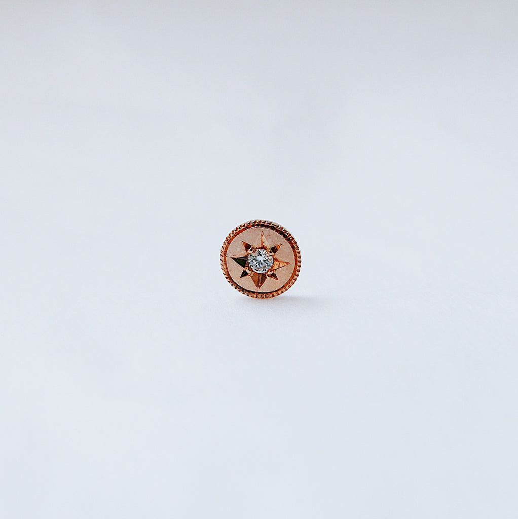 SALE! Starburst Diamond Circle Earring