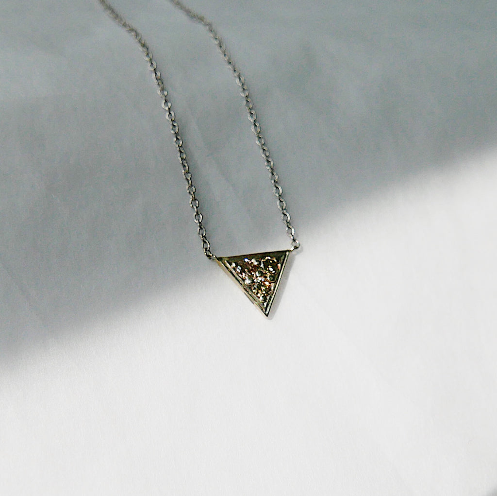 Champagne Triangle Necklace