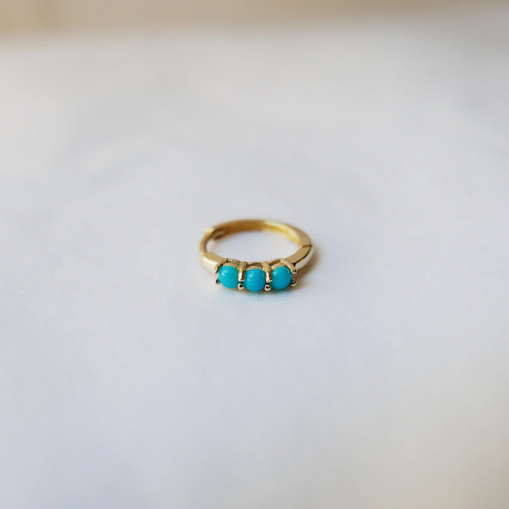 Turquoise Small Hoop